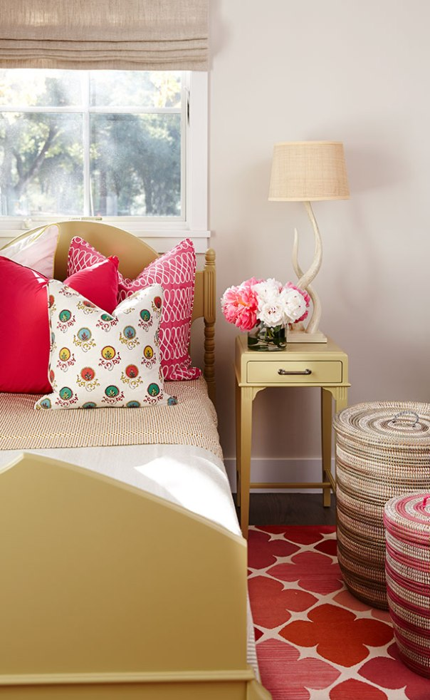 Red kids bedroom designer by Cecily Mendell
