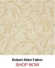 Robert Allen Fleur Parchment Fabric 205591