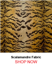 Scalamandre Tigre Ivory Gold Black Fabric