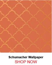 Schumacher Costa del Sol Cinnabar Wallpaper