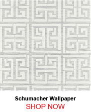 Schumacher Greek Key Sisal Silver Wallpaper 751101