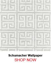 Schumacher Greek Key Sisal Silver Wallpaper 751101