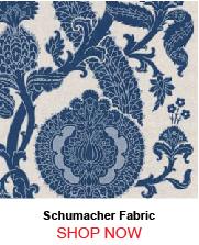 Schumacher Shalkar Indigo Fabric 23329