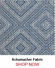 Schumacher Tortola Marine Fabric
