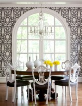 Schumacher Chenonceau wallpaper dining room