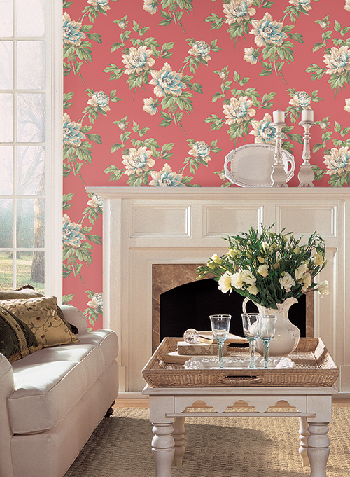 York Casabella II Document Floral Wallpaper