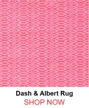 Dash and Albert Fair Isle Pink Fuchsia Cotton Woven Rug