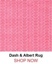 Dash and Albert Fair Isle Pink Fuchsia Cotton Woven Rug