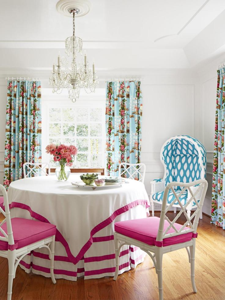 Garden preppy dining room via HGTV Magazine