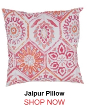 Jaipur Summer Breeze Pink Red Pillow