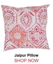 Jaipur Summer Breeze Pink Red Pillow