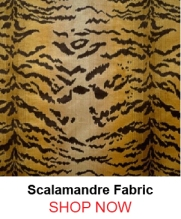 Scalamandre Le Tigre Ivory Gold Black Fabric