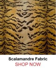 Scalamandre Le Tigre Ivory Gold Black Fabric