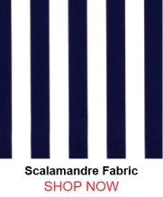 Scalamandre Barbados Navy and White Fabric